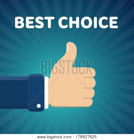 Finger up vector illustration with