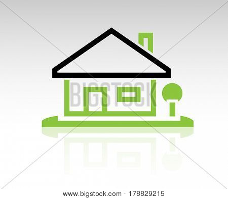 Home Icon on white background. Illustration