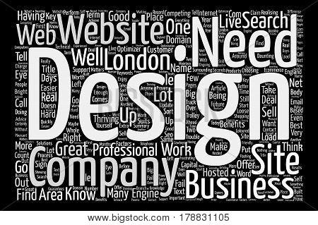 London Web Design text background word cloud concept