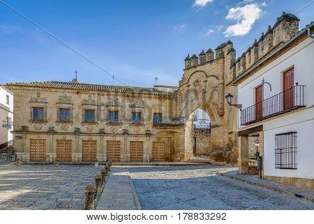 Casa del Populo is 16th-century building in the plateresque style Baeza Spain