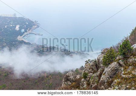 Crimea Peninsula, Black Sea. Rocks