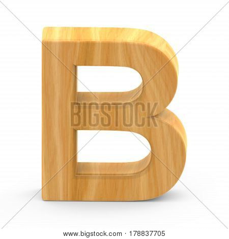 Wooden Grain Letter B