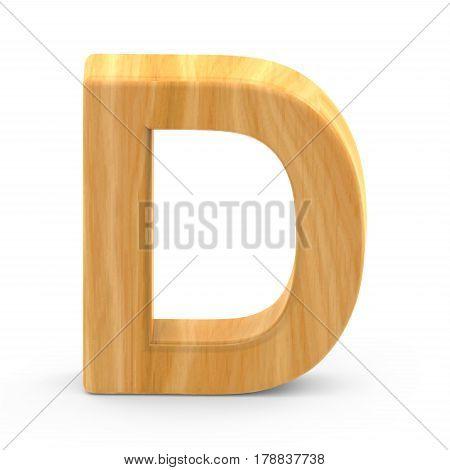 Wooden Grain Letter D