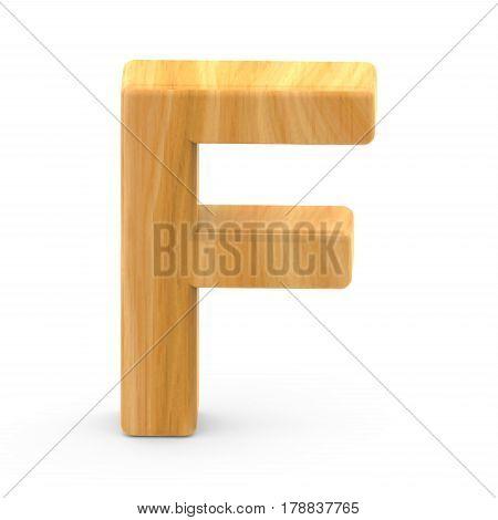 Wooden Grain Letter F