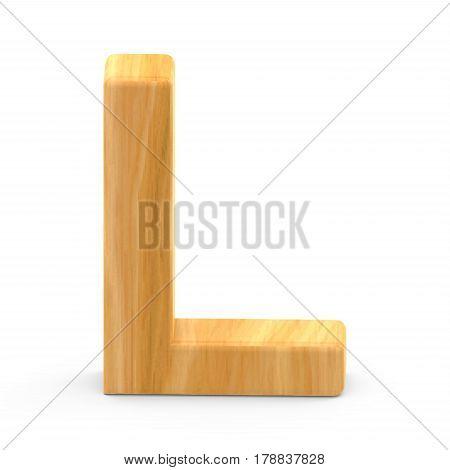 Wooden Grain Letter L