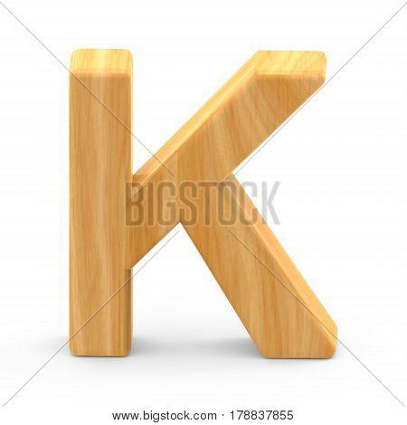 Wooden Grain Letter K