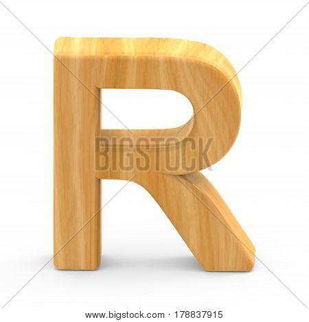 Wooden Grain Letter R
