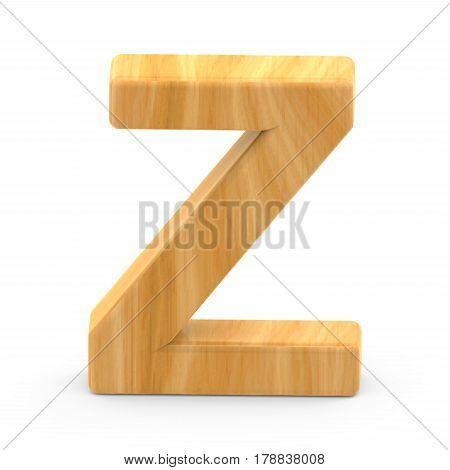 Wooden Grain Letter Z