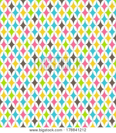 Seamless multicolor contrast bright fun vertical abstract pattern