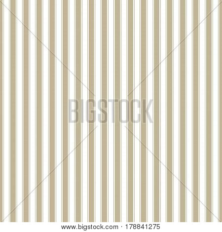 Gold Vertical Strips on White Background, Seamless Pattern for Fabric and Wrapping Paper, Vector Illustration