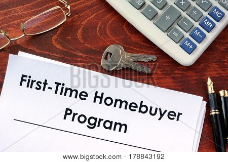 Document with title First time home buyer program.