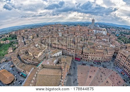 Siena Aerial View Panorama Cityscape