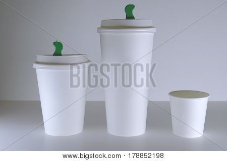 White Paper Coffee Cup Mock-up