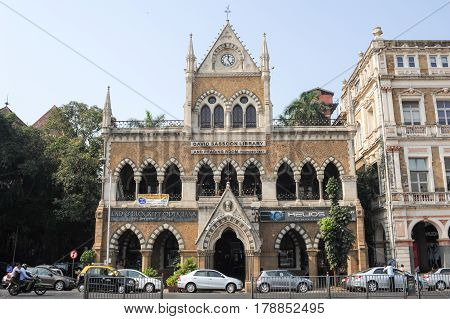 MUMBAI INDIA - JANUARY 5 2015 - The David Sassoon Library is the name of a famous library and is a heritage structure at Mumbai India