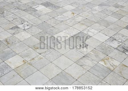 White marble texture background for decorative walkway