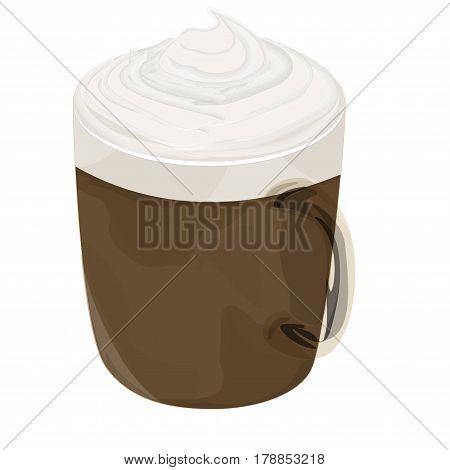 Hot mocha coffee vector icon , hot mocha