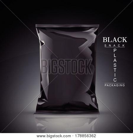 Black Snack Plastic Packaging
