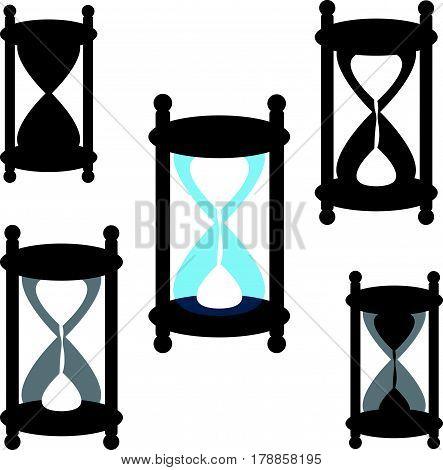 Sandglasses on white background. Vector illustration. Eps10