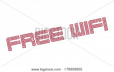 Free Wifi rubber stamp. Grunge design with dust scratches. Effects can be easily removed for a clean, crisp look. Color is easily changed.
