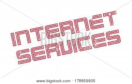 Internet Services rubber stamp. Grunge design with dust scratches. Effects can be easily removed for a clean, crisp look. Color is easily changed.