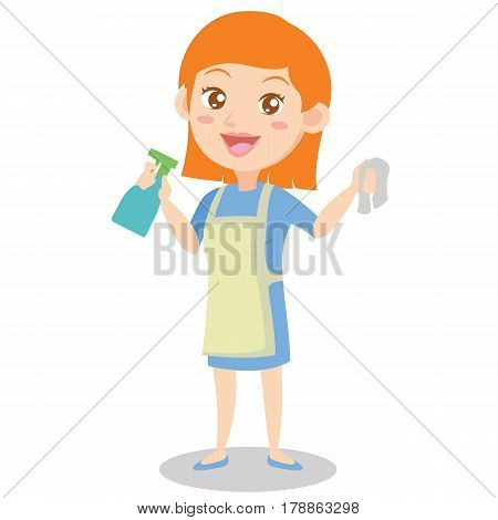 Character housewife design style collection vector illustration