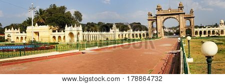 Gate Of The Mysore Palace