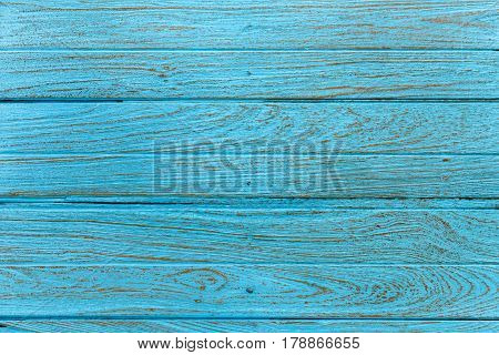 Blue old teak wood texture and background