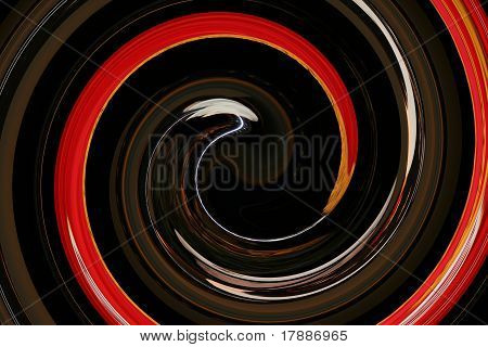 Brown Orange White Swirl Graphic Backdrop