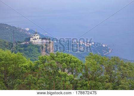 church on the cliff near Foros town in Crimea