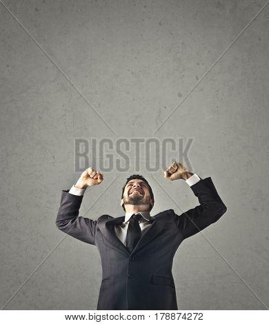 Jubilant employee