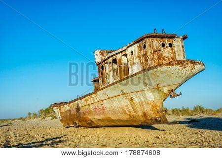 Old ships in the desert