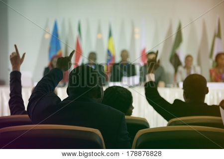 Diversity International People Raise Hands Agreement Collaboration
