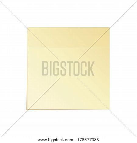 Paper Work Notes Isolated Vector. Sticky Note Illustration On White
