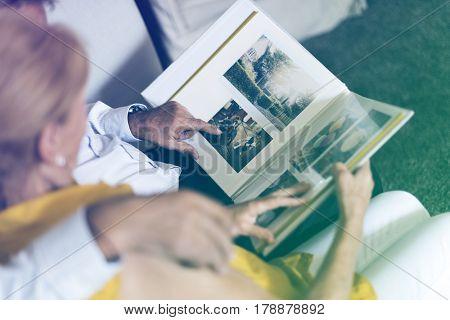 Photo Gradient Style with Senior Couple Look Photo Album