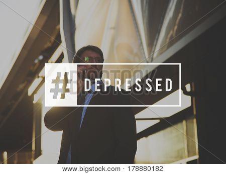 Depressed Emotion Feelings Frame Word