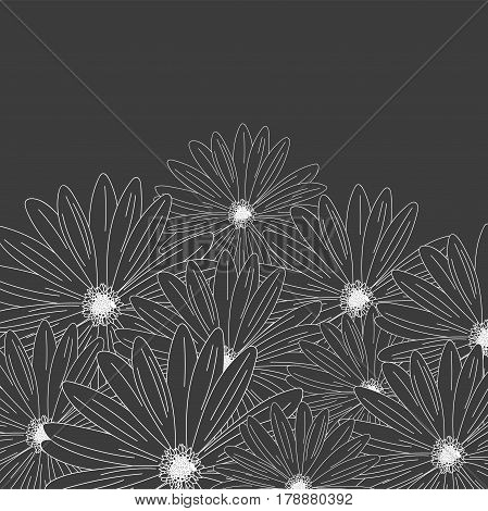 Vector Flower Hand-drawn Isolated On White Background. Flower Isolated Against White.