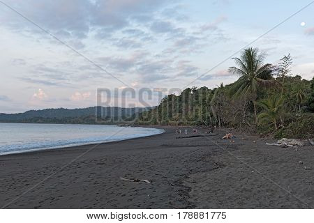 Sunset on the beach of Drake in Costa Rica