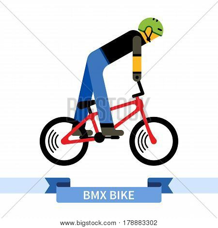 Bicyclist On Bmx Bike