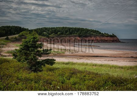 North Rustico beach in the Prince Edward Island National Park, Canada.