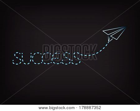 Success Written By Paper Airplane Trail