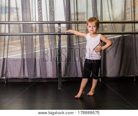 Little Boy Dancer In A Dance Studio