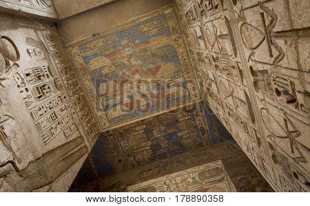 Temple Of Medinet Habu, Dedicated To Rameses Iii. - Unesco World Heritage Site, Luxor, Egypt
