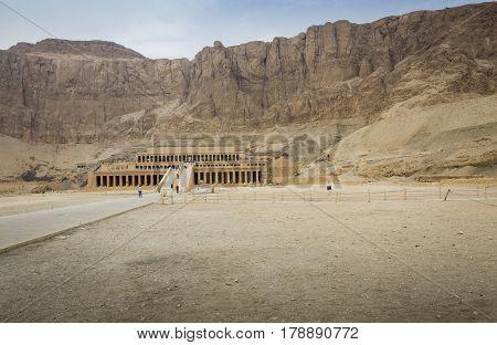 Ancient Ruins Of Queen Hatshepsut Temple, Luxor, Egypt