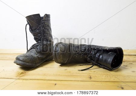 Dirty Leather Boots