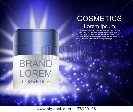 Cream. Realistic. Cosmetics. Abstract background. For your design.