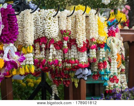 Lei of flowers , garlend for worship