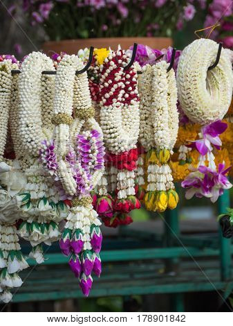 Lei of flowers , garland for worship