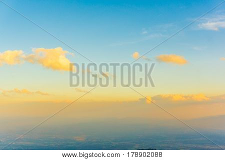 Colourful Sky With Cloud While Sunset