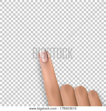 Finger Pointing Transparence Isolated Forefinger Pick