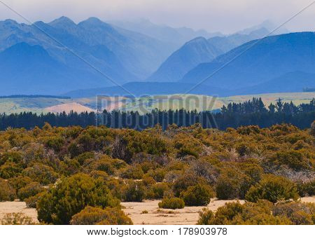 Mountains Of Fiordland In Haze